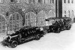1922 r. samochód gaśniczy i autodrabina należące do straży pożarnej w Dreźnie. Być może te, albo takie same pojazdy trafiły z Drezna do braniewskiej OSP w 1935 r.