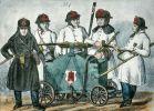 strażacy z Hamburga ok. 1850 r. przy sikawce podręcznej