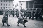 1938. Przegląd w koszarach przy obecnej ul. Sikorskiego, w których stacjonował 24 pułk piechoty. Być może na zdjęciu ppłk Robert Sattler