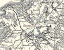 Fragment mapy Friedricha Leopolda von Schroettera z lat 1976-1802 z zaznaczoną karczmą Einsiedel (Siedlisko)