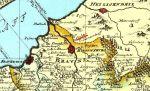 mapa Świętej Warmii z 1755 r. Enderscha z zaznaczonym Einsiedel - Siedliskiem