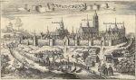 Stare Miasto Braniewo na ilustracji K. Harktnocha z 1684 r. z lewej strony droga w kierunku Siedliska