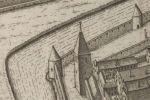 Znajdując e się w pobliżu dzisiejszego Amfiteatru Miejskiego obiekty obronne tj. Wieża Klesza wówczas na terenie zakonu jezuitów w wewnętrznej linii murów miejskich (dziś na terenie ZSZ) oraz bezimienna wieża narożna i Baszta Prochowa z zewnętrznej linii murów. Wraz z odnowioną linią murów zewnętrznych są to nieliczne już pozostałości dawnych średniowiecznych obwarowań miejskich.