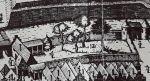 miejska strzelnica istniała pomiędzy murem zewnętrznym i wewnętrznym na odcinku Brama Mnisza i Brama Gwoździarska. Dziś to odcinek, gdzie stoi poczta i blok mieszkalny pomiędzy ulicami Kromera i Wodną. Na rysunku z 1635 widać na jej terenie kilka okazałych drzew – co było w zasadzie jedynym tak zielonym miejscem w obrębie Starego Miasta.