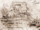zachowany schematyczny rysunek Konrada Götke przedstawiający zamek biskupi