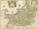 Mapa Prus z 1645r.