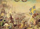 Scena desantu Szwedów z tza. wojny kalmarskiej w 1611r.