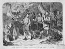 1868. Konstable wojskowi na wojennym szlaku ubrani w rāpaki