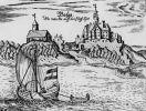 Zamek w Bałdze , rys. z XVII w.