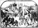 Oblężenie zamku. Obraz z XV wieku