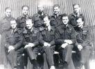 Załoga Sunderlanda Mark III (EK591) z kanadyjskiego 422 dywizjonu RCAF w składzie szkoliła się w 10-osobowym składzie od grudnia 1943r. Nominalnym dowódcą był chor. Frank Morton, jednak na ich 1 lot bojowy do załogi przydzielono dodatkowo 2 doświadczonych lotników: pilota kpt. Sida Butlera i nawigatora kpt.  A. Omerona. Na zdjęciu stała załoga Sunderlanda: w pierwszym rzędzie -Frank Cauley, Roy