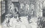 Tak to mogło wyglądać w przypadku przedstawicieli Braniewa. Król Gustaw II Adolf przyjmujący posłów holenderskich.