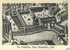 Zamek biskupi w Braniewie w 1635r. Tu po 9 latach szwedzkiej okupacji burmistrz Szymon Wichmann odebrał klucze do miasta, co było dla niego osobistą satysfakcją i sukcesem.