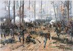 Bitwa pod Shiloh 6-7.04.1862r.  – starcie zbrojne, które miało miejsce w czasie wojny secesyjnej. Bitwa odbyła się pod miastem Shiloh w stanie Tennessee, zakończyła się zwycięstwem wojsk Unii. W bitwie odwagą i dowodzeniem zabłysnął  płk August Willich dowódca 32 ochotniczego pułku piechoty Indiany. Ilustracja .L. Prang & Co.