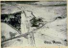 fotografia przedstawiająca rezultat działań szturmowców Ił-2 z 136GSzAP w rejonie południowy- wschód od Wysokiej Braniewskiej (Hogendorf) w dniu 17.02.1945 r. Zdjęcie wykonał pilot Tarasow